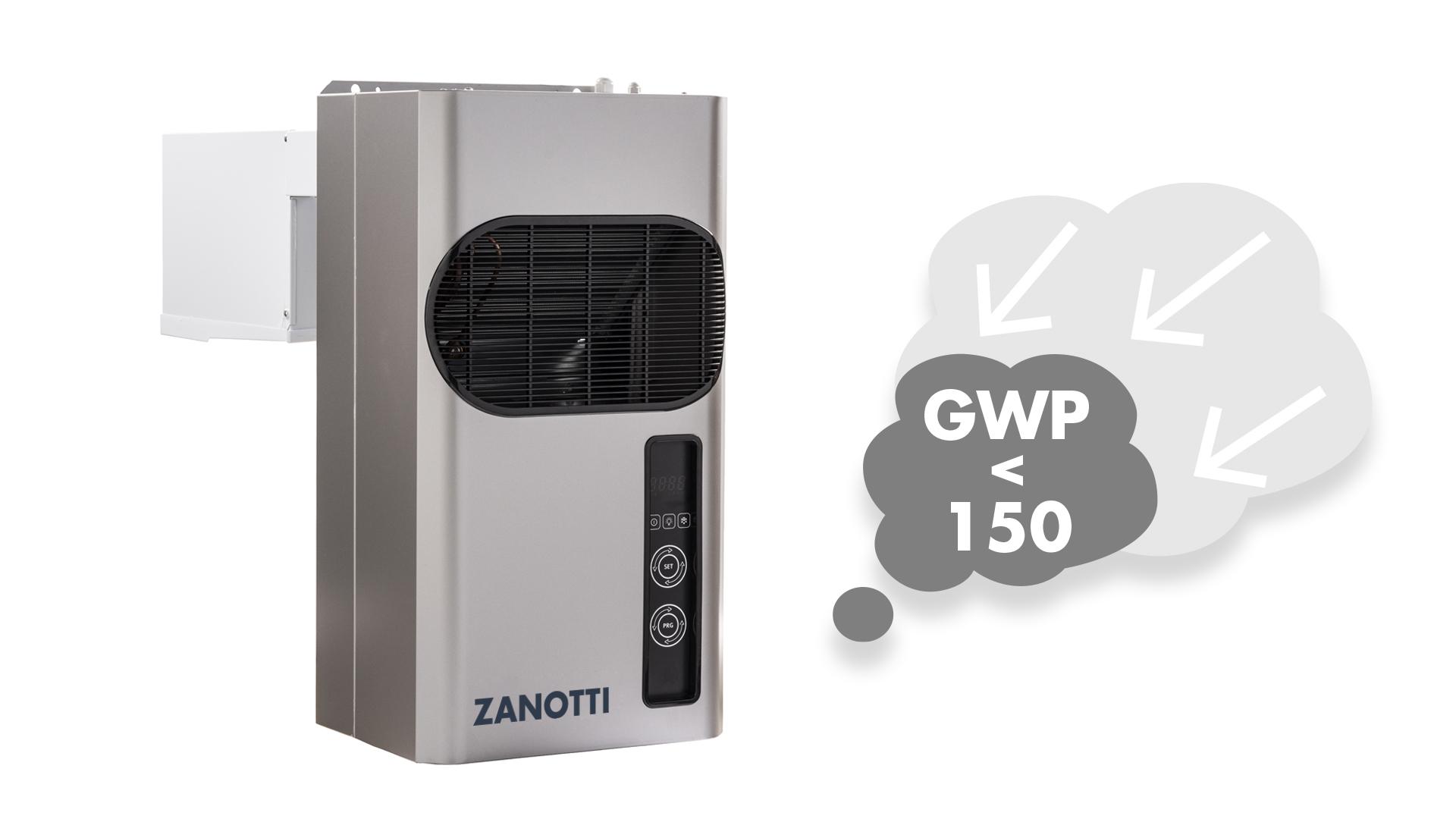Gruppi monoblocco per impianti frigoriferi, modello Zanotti GM A2L
